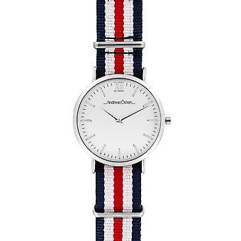 Watch Andreas Osten AO-64 - Blue Nylon Watch Bo Mixed Silver Tier