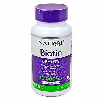 Natrol biotin beauty, 10000 mcg, tablets, 100 ea