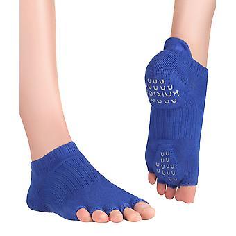 KnitidoMD Tani, chaussettes orteils avec adhérence, pour le yoga, les pilates et la forme physique