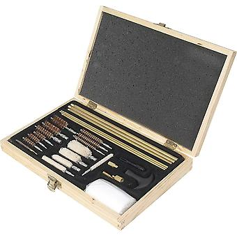 Jack Pyke Universal Rifle Shotgun Gun Cleaning Kit in Wooden Box
