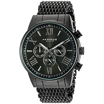 Akribos XXIV-quartz with analog Display and stainless steel bracelet with AK919BK, color: black