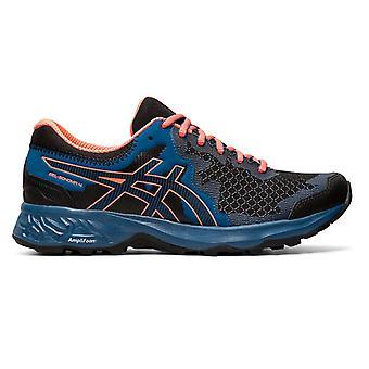 Asics Gel-Sonoma 4 Womens Trail Running Trainer Shoe Black/Blue/Orange