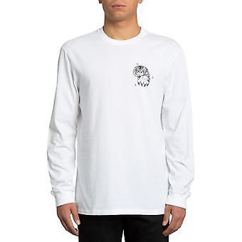 Volcom Mike Giant FA Langarm T-Shirt in weiß