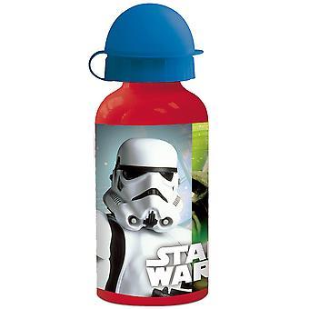 STAR WARS Kids water bottle in aluminum red blue 400 ml