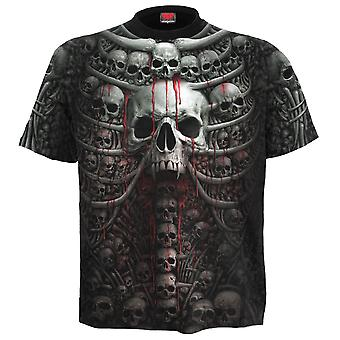 Spiral Direct Gothic DEATH RIBS - Allover T-Shirt Plus Size Black|Skulls|UnDead|Horror|Blood