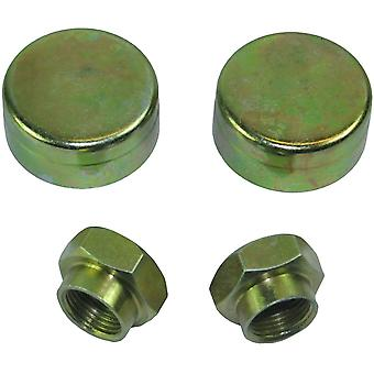 Peugeot 106 306 Hub Nut and Grease Cap Paire