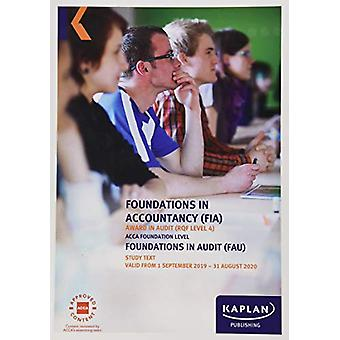 FOUNDATIONS IN AUDIT (INT/UK) - STUDY TEXT by KAPLAN PUBLISHING - 978
