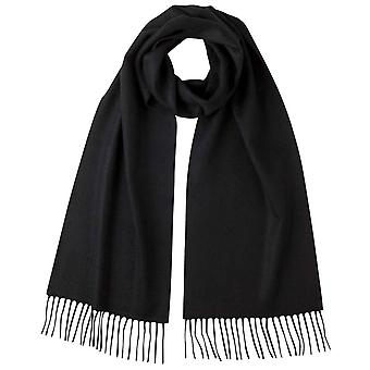 Johnstons of Elgin Plain Cashmere Scarf - Black