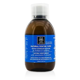 Total natural mouthwash with spearmint & propolis 250ml/8.5oz