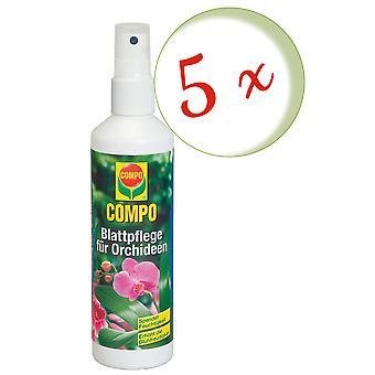 Sparset: 5 x COMPO Blattpflege für Orchideen, 250 ml