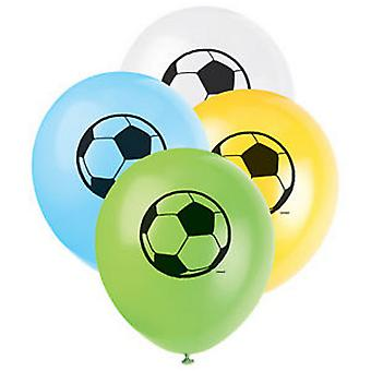 Unique Party 12 Inch Football Latex Balloons (Pack of 8)