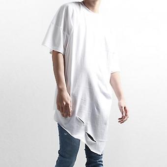 T-shirt onregelmatige gaten losse wild ronde