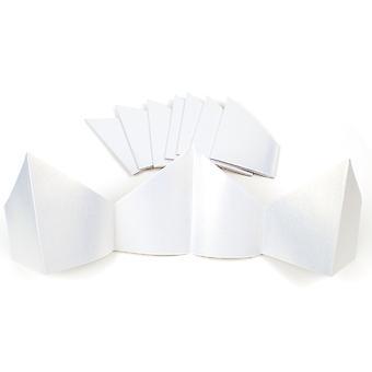 10 chapéus de papel branco perolado para artesanato de biscoito de Natal DIY