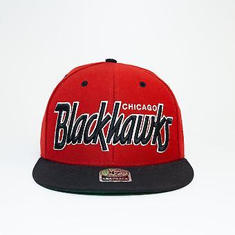47 Marke Nhl Chicago Blackhawks Spellout rot Snapback Cap