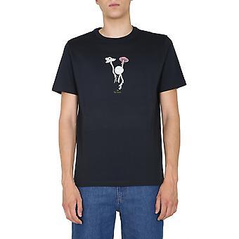 Ps Door Paul Smith M2r011rep215149 Men's Blue Cotton T-shirt