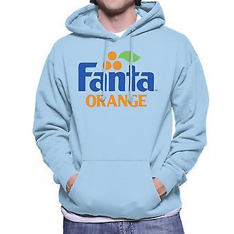 Camisola com capuz Fanta Orange 1980s retro logo para homem