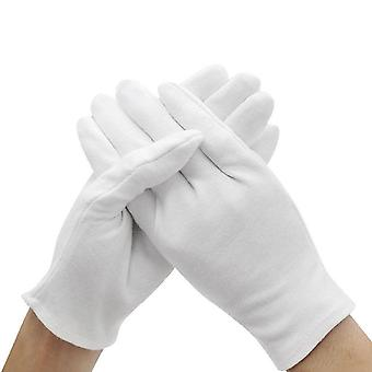 White Cotton Lint-free Inspection Gloves - Coin Jewelry Silver Inspection Cotton Gloves
