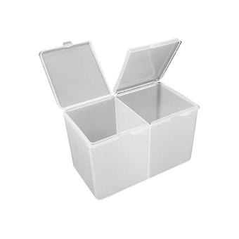 Acrylic Round Makeup Organizer - Cotton Pads Container Storage Box