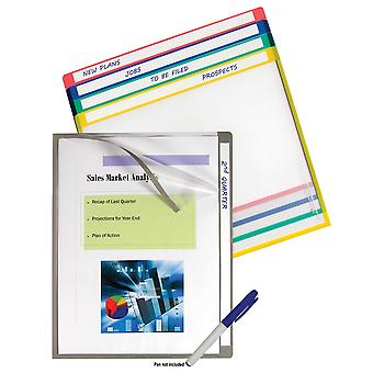 62190BNDL5PK, Write-on Project Folders, Clear, 11 x 8 1/2, 10/PK (Set of 5 Packs)