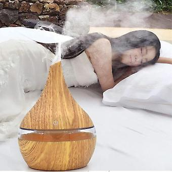 Wood Ultrasonic 7 Color Changing Usb Electric Aroma Air Diffuser 300ml - Home Essential Oil Aromatherapy Cool Mist Maker