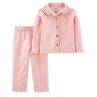 Einfache Freuden von Carter's Mädchen' Kleinkind 2-teilige Mantel Stil Pyjama Set, Rosa Do...