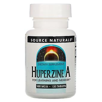 Fonte Naturali, Huperzine A, 100 mcg, 120 Compresse