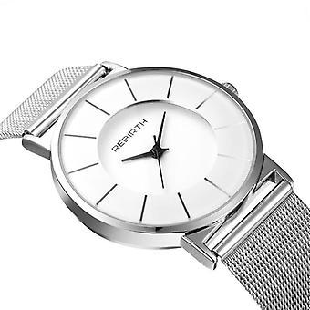 Men's stalen mesh waterdicht horloge
