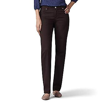 Lee Women's Size Tall Relaxed Fit Straight Leg Jean, Mahogany, 18 Tall