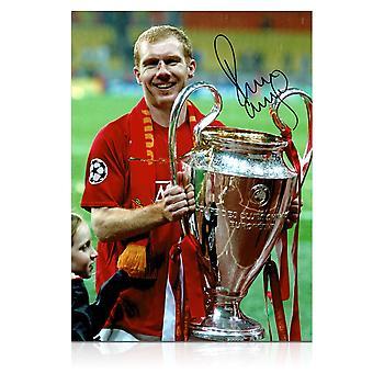 Paul Scholes Signed Manchester United Photograph: Champions League Winner