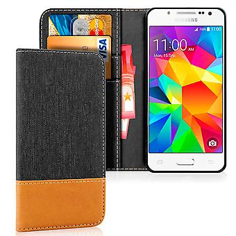 Samsung Galaxy J5 Leatherette Card Holder Protection Shell Shockproof Jeans Mobile Protection