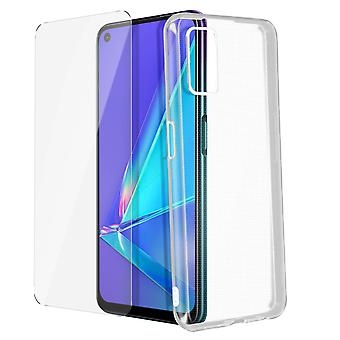 Cover for Oppo A72 / A52 and 4Smarts 9H film in Transparent Tempered Glass