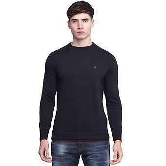 Police Twisted 7209 Crew Cotton Jersey Jumper - Navy