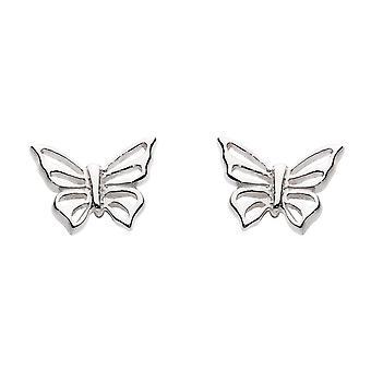 Dew Sterling Silver Dinky Butterfly Stud Earrings 4035HP