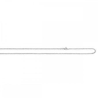Beginnings Sterling Silver N3152 Dia Cut Ball Rhodium 83cm Chain