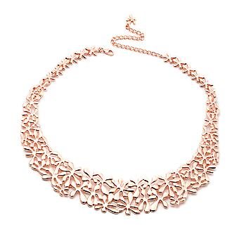 LucyQ Splash Necklace Size 20 in Rose Gold Plated Sterling Silver