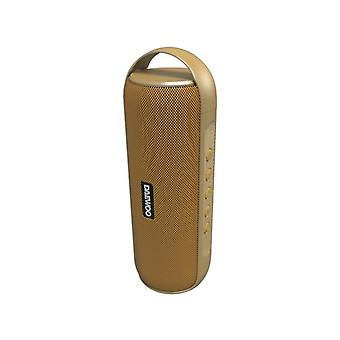 Daewoo DBT-20 12W Golden portable bluetooth speakers