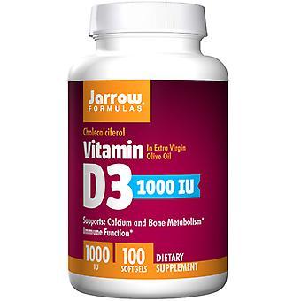 Jarrow Formulas Vitamin D3، 1000 وحدة دولية، 100 Sftgels