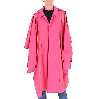 Ambush Bmee002f20fab0013030 Women's Pink Polyester Trench Coat