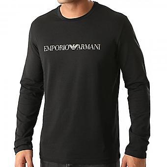 Emporio Armani Sous-vêtements Logo Stretch Long Sleeve T-Shirt Noir 111653 0A595