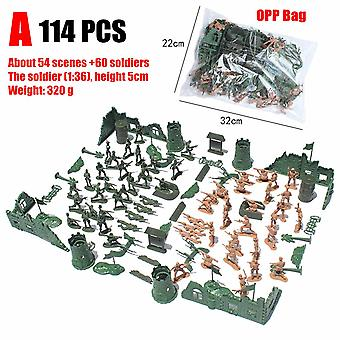 Army Forces Military Model Diy War Scene Kids Plastic Toys Room Decorative