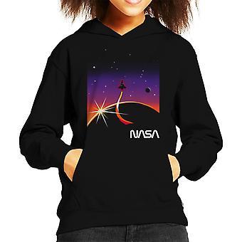 NASA Galactic Take Off Kid's Hooded Sweatshirt