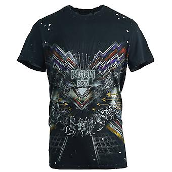 Balmain Graphic Distressed Black T-Shirt