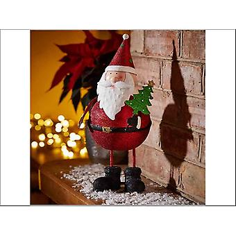 Smart Solar Sparkly Santa Wobble 17 x 15 x 36cm 2530006