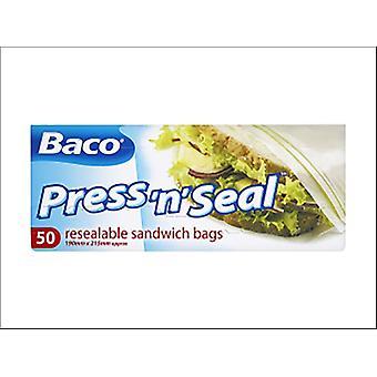 Baco Press N Seal Sandwich Bags x 50 85B24