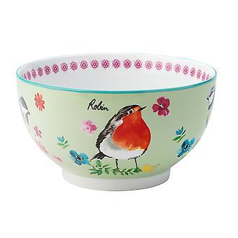 English Tableware Company Garden Birds Bowl Green DD1920B08