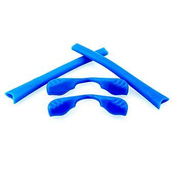 Ersatz Gummi Kit für Oakley Radar Serie Sonnenbrille Earsocks Nasenpolster blau