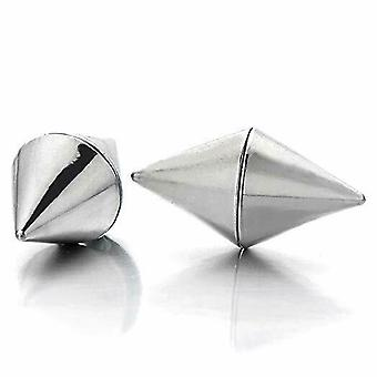 Earrings magnetic with double side spike end 9mm - sold as a pair