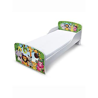 PriceRightHome Jungle Toddler Bed with Fibre Mattress