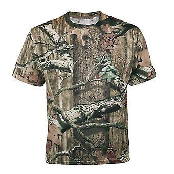 Men Outdoor Breathable Summer Hunting T-shirt, Quick Dry Tactical Shirt Size