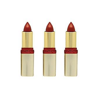 3 x L'Oreal Paris Color Riche Serum Collection Lipstick - S500 Ardent Sunset